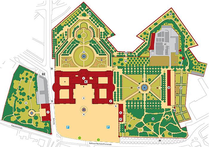 Bayerische Schlosserverwaltung Residenz Wurzburg Hofgarten Plan Und Bildergalerie