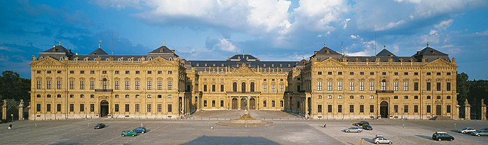 Picture: View of the Würzburg Residence complex with Residence Square (Residenzplatz)