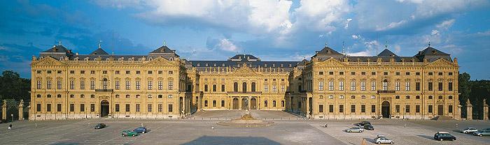 Bild: Gesamtansicht der Residenz Würzburg