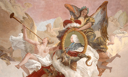 Picture: Ceiling fresco &quotThe continent of Europe""