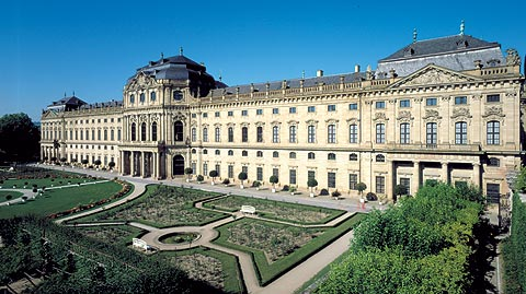 Picture: Garden façade of the Würzburg Residenz